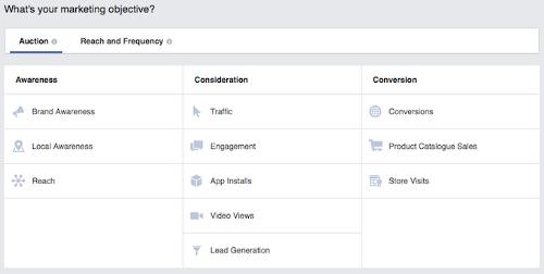 FacebookObjectiveScreenshot