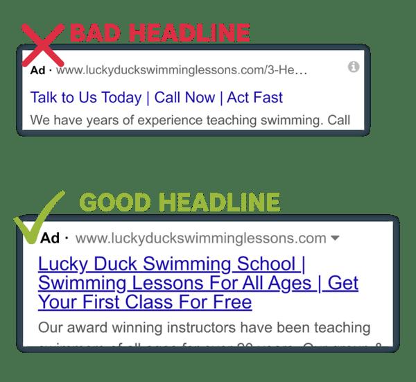 RSA Headline Comparison