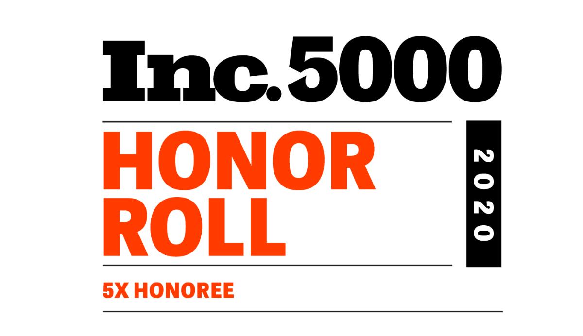Inc 5000 5X Honor Roll Badge